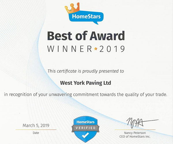 Best of Award for driveway pavers